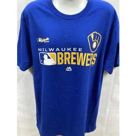 Fanatics Milwaukee Brewers Men's Royal Authentic Short Sleeve Tee
