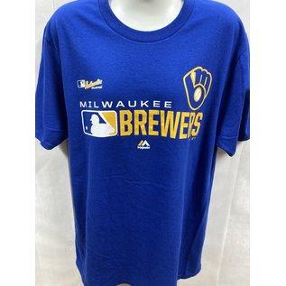 Fanatics Milwaukee Brewers Men's Royal Authentic Short Sleeve Tee