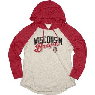 Blue 84 Wisconsin Badgers Women's Ashton Raglan Pullover Hoodie