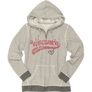 Blue 84 Wisconsin Badgers Women's Facepalm French Terry Full Zip Hoodie