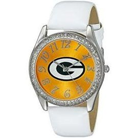 Gametime Watches Green Bay Packers Womens White Glitz Watch