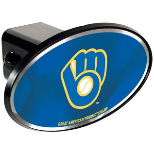 Great American Products, LTD Milwaukee Brewers Plastic Hitch Cover