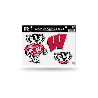 Rico Industries, Inc. Wisconsin Badgers Team Magnet Set of 3