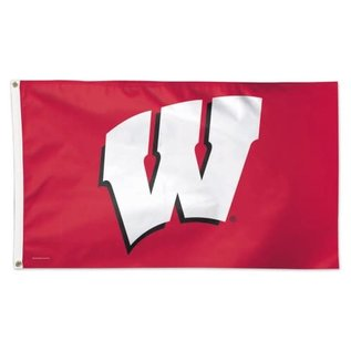 WinCraft, Inc. Wisconsin Badgers Deluxe 3x5 Flag: Red with White W
