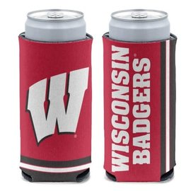 WinCraft, Inc. Wisconsin Badgers 12 oz Slim Can Cooler