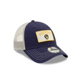 New Era Milwaukee Brewers Youth 9-40 Trucker Adjustable Hat