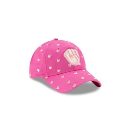 New Era Milwaukee Brewers Youth Lovely Fan Pink Adjustable Hat