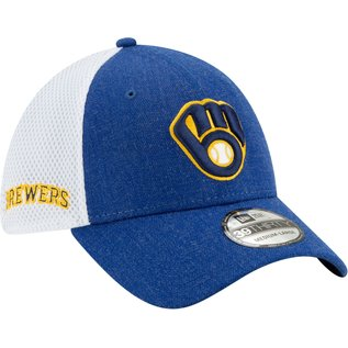 New Era Milwaukee Brewers 39 Thirty Heather Front Neo Hat