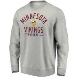 Fanatics Minnesota Vikings Men's Team Arc Stacked Crewneck Fleece