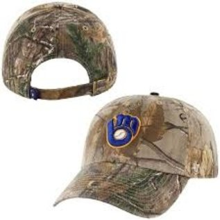 '47 Brand Milwaukee Brewers Realtree  Clean Up Adjustable Hat