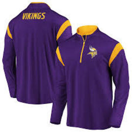 Fanatics Minnesota Vikings Men's Defender Mission Poly 1/4 Zip
