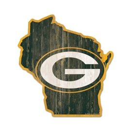 WinCraft, Inc. Green Bay Packers Wood State Shaped Sign