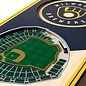 Milwaukee Brewers 3D 6x19 Wood Stadium Banners