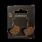 Chicago Bears Swirl Heart Dangle Earrings