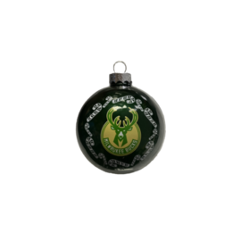 Boelter Brands LLC Milwaukee Bucks Round Ball Ornament with Candy Canes