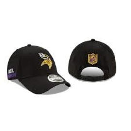 New Era Minnesota Vikings 20 Black Draft 9 Forty Stretch Snap Adjustable Hat