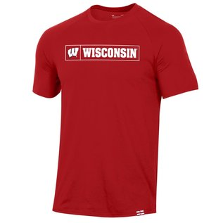 Under Armour Wisconsin Badgers Red Pinnacle Men's Short Sleeve Tee