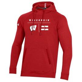 Under Armour Wisconsin Badgers Men's Campus Fleece Pullover Hoodie