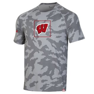 Under Armour Wisconsin Badgers Youth Gray Training Short Sleeve Tee