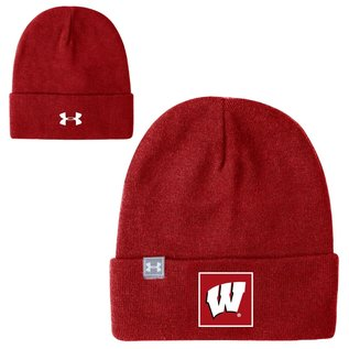 Under Armour Wisconsin Badgers Red Truckstop Beanie Knit Hat