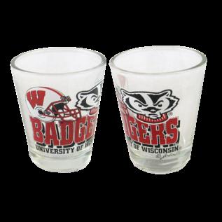 Wisconsin Badgers 2oz Helmet Logo Shot Glass
