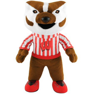 "Wisconsin Badgers 8"" Plush Bucky Badger"