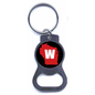 Wisconsin Badgers Bottle Opener Keychain with State