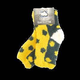 Green Bay Packers Fuzzy Polka Dot Socks Size Medium