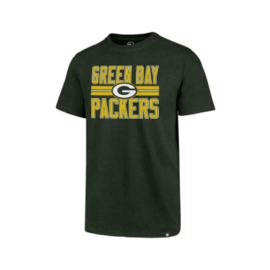 '47 Brand Green Bay Packers Men's Block Stripe Club Short Sleeve Tee