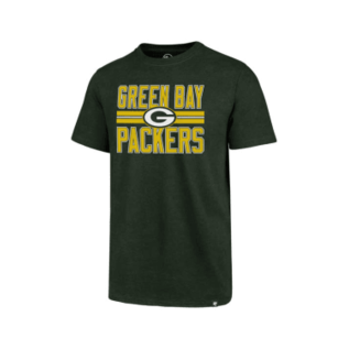 '47 Brand Green Bay Packers Men's Block Stripe Club Short Sleeve Tee