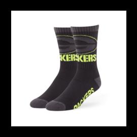 '47 Brand Green Bay Packers Black Warrant Men's Socks Size Large