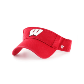 '47 Brand Wisconsin Badgers Red Clean Up Visor