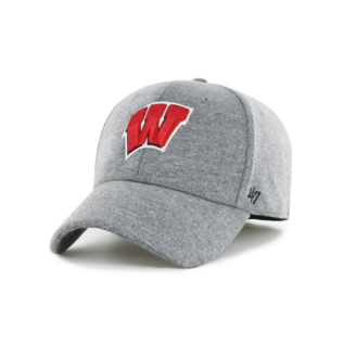 '47 Brand Wisconsin Badgers Gray Contender Flex Fit Hat