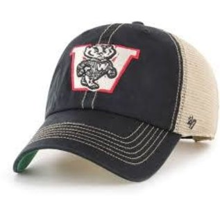 '47 Brand Wisconsin Badgers Trawler Clean Up Adjustable Hat