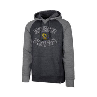 '47 Brand Milwaukee Brewers Men's Match Raglan Pullover Hoodie
