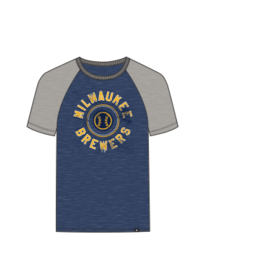 '47 Brand Milwaukee Brewers Men's Match Raglan Short Sleeve Tee