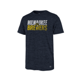 '47 Brand Milwaukee Brewers Men's Turbo Impact Short Sleeve Tee