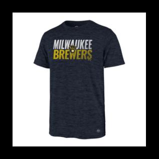'47 Brand Milwaukee Brewers Men's Turbo Impact Short Sleeve Tee