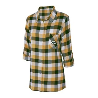 College Concepts LLC Green Bay Packers Women's Breakout Flannel Nightshirt