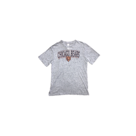 College Concepts LLC Chicago Bears Men's Gray Bear Head Short Sleeve Tee