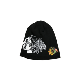 Adidas Chicago Blackhawks Glow In The Dark Black Beanie