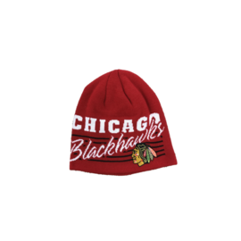 Adidas Chicago Blackhawks Red With White Print Beanie