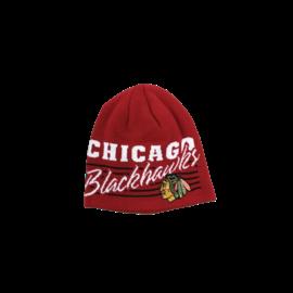Adidas Chicago Blackhawks Red With White Print Beanie