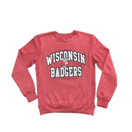 Signature Concepts Wisconsin Badgers Men's Big Arch Crewneck Sweatshirt