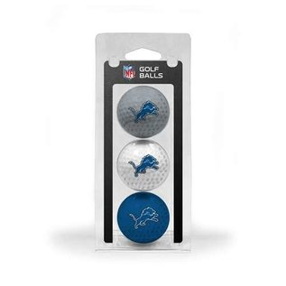 Detroit Lions 3 Pack Golf Balls