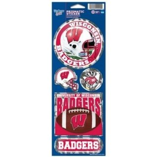 WinCraft, Inc. Wisconsin Badgers Prismatic Decal Set