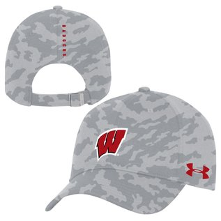 Under Armour Wisconsin Badgers Armour Camo Adjustable Hat