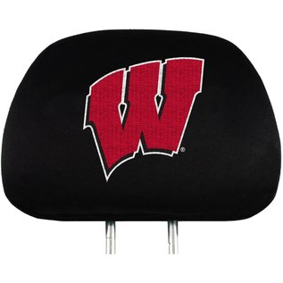 Wisconsin Badgers Head Rest Covers - Set of 2