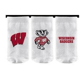 Strideline Wisconsin Badgers Baby Socks 3-Pack