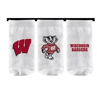 Strideline Wisconsin Badgers Baby Socks 3-Pack